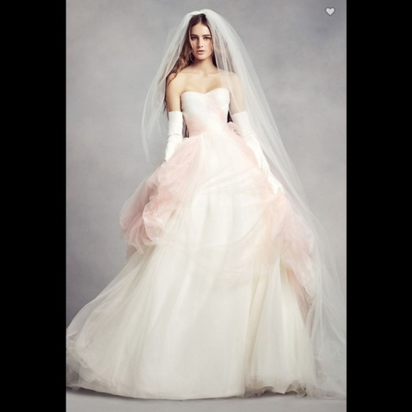 White by Vera Wang Dresses | Vera Wang Pink Wedding Gown Vw351322 ...